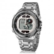 Мужская Многофункциональный аналого-цифрового Стальной браслет кварцевые аналоговые наручные часы (разных цветов)