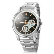 Мужская оригинальный стиль стали аналоговые автоматические наручные часы Повседневная часы (серебро)