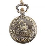 Мужская поезда сплава аналогового карман кварцевые часы (бронза)