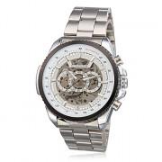 Мужская Полые сталь Стиль Аналоговый Механические наручные часы (серебро)