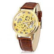 Мужская Полуавтоматическая набора PU Группа Кварцевые аналоговые наручные часы (разных цветов)