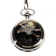 Мужская повседневная Сплав Аналоговые карманные кварцевые часы (серебро)