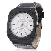 Мужская PU Аналоговые кварцевые наручные часы (черный)
