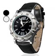 Мужская PU аналоговые кварцевые наручные часы (разных цветов)