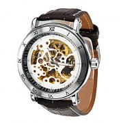 Мужская PU Аналоговый Авто-механические наручные часы (разных цветов)