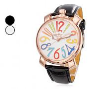 Мужская PU Механические аналоговые наручные часы (разных цветов)