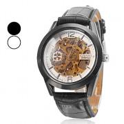 Мужская PU полу-механические наручные часы (разных цветов)