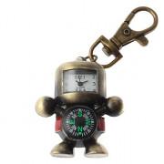 Мужская робот Дизайн сплава аналогового Кварцевые часы с брелок Compass (бронза)