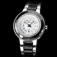 Мужская Серебряный набор керамики со сталью Аналоговые кварцевые наручные часы (разных цветов)