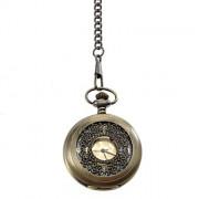 Мужская сплава аналоговые кварцевые карманные часы (бронза)