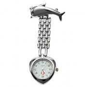 Мужская сплава аналоговые кварцевые карманные часы (серебро)