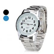 Мужская сплава аналоговые кварцевые наручные часы (серебро)