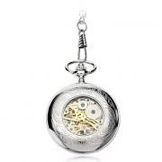 Мужская сплава аналоговый Механические часы карманные (серебро)