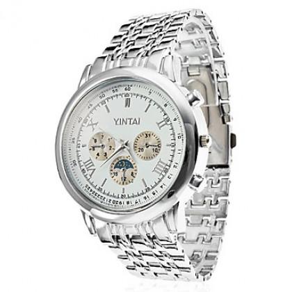 Мужская сплава аналогового кварцевые наручные часы (серебро)