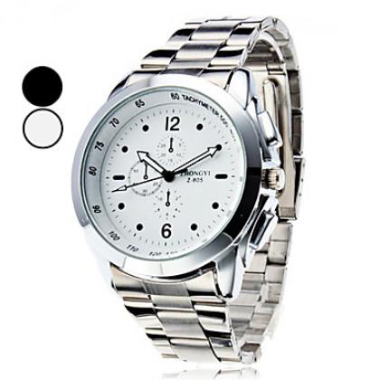 Мужская Спорт Стиль стали аналоговые кварцевые наручные часы (разных цветов)