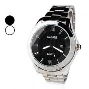 Мужская стали аналоговые кварцевые наручные часы с календарем (разных цветов)