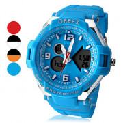 Мужская Стальная рама Многофункциональный аналого-цифрового набора Rubber Band наручные часы (разных цветов)