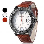 Мужская стилю PU аналоговые кварцевые наручные часы (разных цветов)
