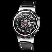 Мужская Вихрь Стиль двоичной Красочный светодиодные Черный Кожаный ремешок наручные часы (разных цветов)