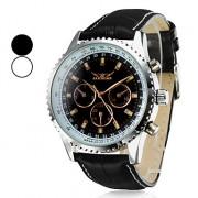 Мужская Водонепроницаемые Аналоговый Стиль PU Механические наручные часы с календарем (разных цветов)