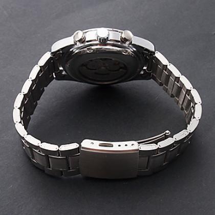 Мужская Водонепроницаемые Стиль Аналоговый стали механические наручные часы (серебро)