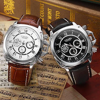 Мужские аналоговые авто-механические наручные часы класса люкс с календарём (разные цвета)