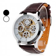 Мужские аналоговые авто-механические наручные часы (разные цвета)