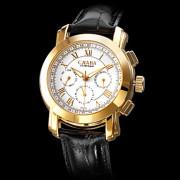 Мужские аналоговые авто-механические наручные часы с календарем и ремешком из кожзама (разные цвета)