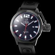 Мужские аналоговые механические наручные часы с черным корпусом (разные цвета)