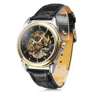 мужские аналоговые ПУ Механические наручные часы (черный)