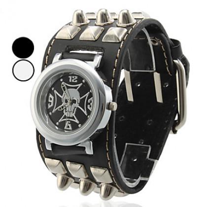 Мужские черепа Стиль PU аналоговые кварцевые наручные часы (разных цветов)
