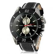 Мужские кварцевые аналоговые Сталь Циферблат Черный PU группы наручные часы (разные цвета Dial)