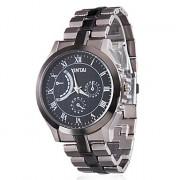 Мужские кварцевые сплава аналогового наручные часы (Grey)