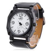 мужские пу аналоговые механические часы случайным (золото)