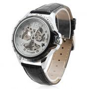 мужские пу аналоговые механические случайные часы (черный)