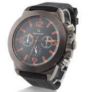 Мужские спортивные кварцевые часы с силиконовым ремешком
