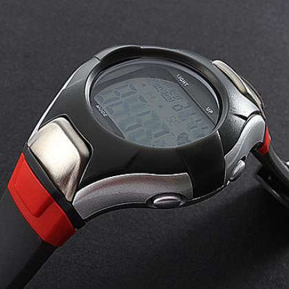 Мужские Стиль Electro люминесцентные резиновой цифровой Автоматические наручные Heart Rate Monitor Watch (Multi-Color)