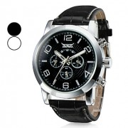 Мужские водонепроницаемые механические наручные часы с календарем на ремешке из искусственной кожи. Цвета в ассортименте.