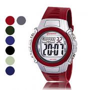 мужские водостойкой Пу цифровых автоматических случайно часы (ассорти цветов)