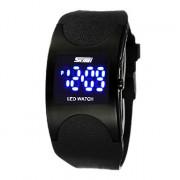 мужской синий светодиодный цифровой резинкой наручные часы