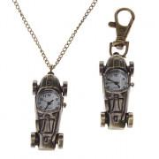 Мужской стиль автомобиля сплава Кварцевый брелок Ожерелье Watch (бронза)
