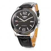 Мужской стиль механический аналог PU наручные часы (разных цветов)