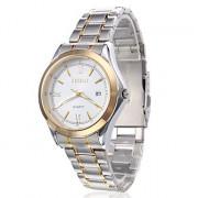Мужской стиль одежды кварцевые аналоговые наручные часы сплава (Multi-Colored)
