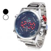 Мужской стиль одежды сплава аналогового - Digital Multi-движения наручные часы (серебро)