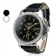 Мужской стиль PU Аналоговый механический водостойкой наручные часы (разных цветов)