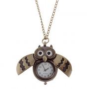 Мужской стиль Сова сплава год сбора винограда кварцевые аналоговые карманные часы с цепочкой
