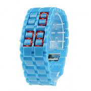 Наручные LED часы без циферблата (ярко-синие)