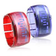 Пара браслетов дизайн будущего синий светодиод наручные часы - синий и красный