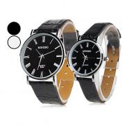 пара стиле ПУ аналоговые кварцевые наручные часы (ассорти)