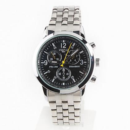 пара стиле унисекс стали аналоговые кварцевые наручные часы (серебро)